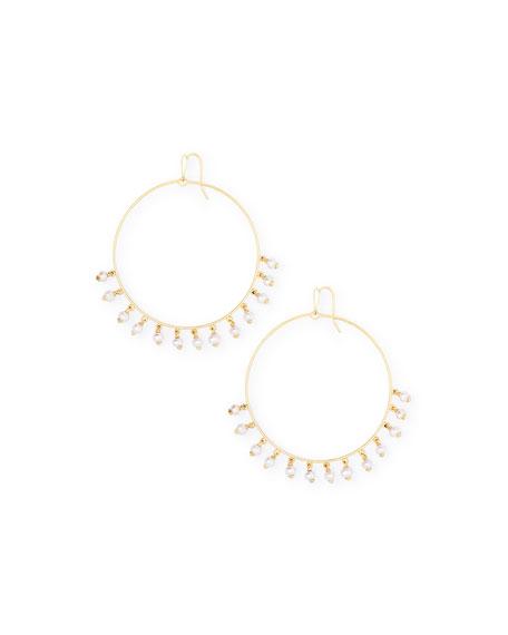 Kendra Scott Hilty Pearl-Shaker Hoop Earrings