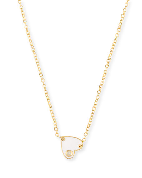 Jennifer Zeuner Mia Mini Enamel Necklace