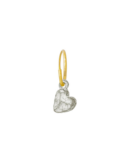 Lee Brevard Tiny Lotus Heart Earring, Single