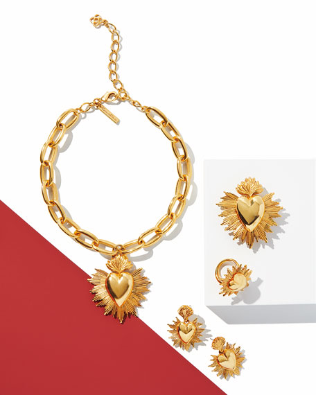 Oscar de la Renta Sacred Heart Pendant Necklace