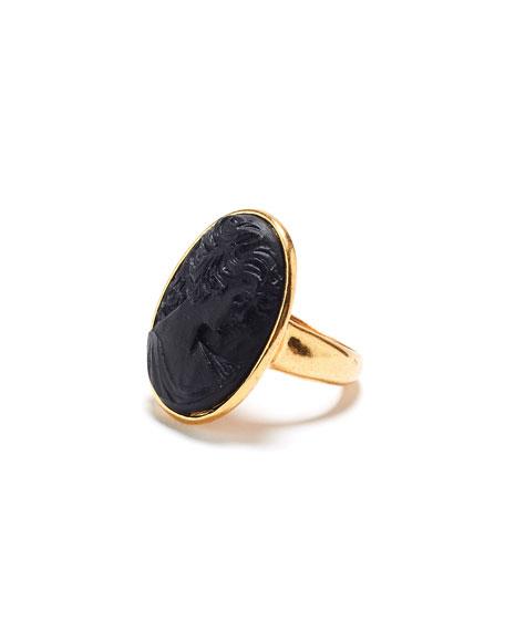 Oscar de la Renta Carved Oval Ring