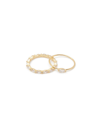 Lena Stack Rings  Set of 2  Size 6-8