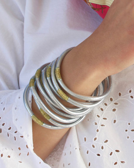 BuDhaGirl Silver All-Weather Bangles, Size S-L