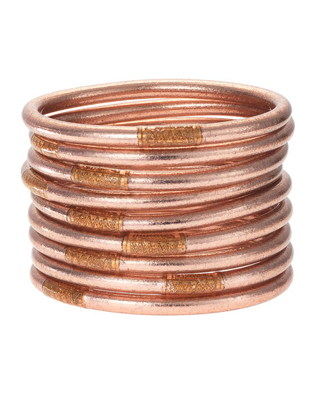 BuDhaGirl Rose Gold All-Weather Bangles, Size S-L