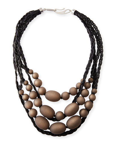 Anthracite Multi-Strand Necklace