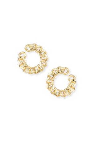 Auden Rocco Front-Facing Link Hoop Earrings