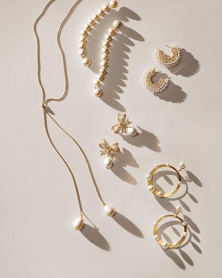Lele Sadoughi Caterpillar Pearly Earrings