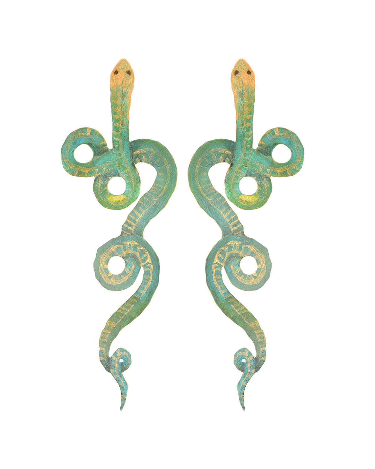 We Dream in Colour Serpentine Painted Earrings