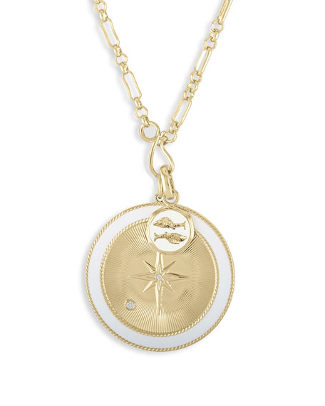 Lulu DK Pisces & White Northern Star Charm Set Necklace