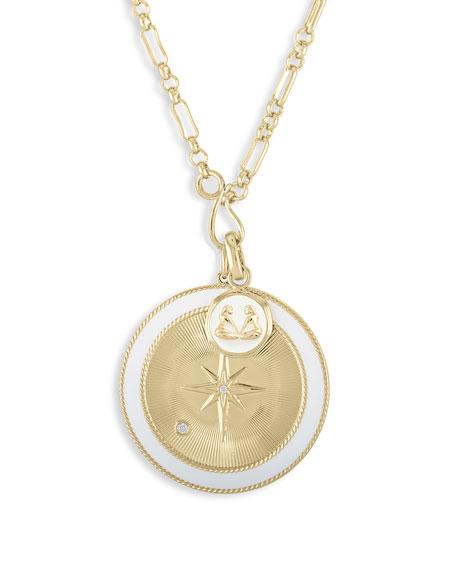 Lulu DK Gemini & White Northern Star Charm Set Necklace