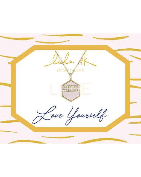 Lulu DK Hexagonal Pendant Necklace, Pink