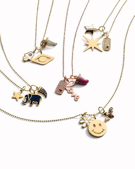 Sydney Evan 14k Enamel & Diamond Star Charm Necklace