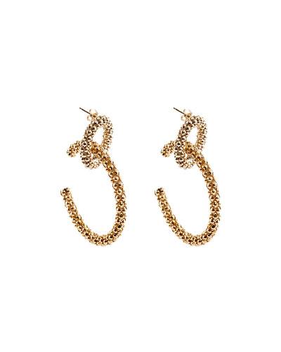 Onore Chain-Link Hoop Earrings