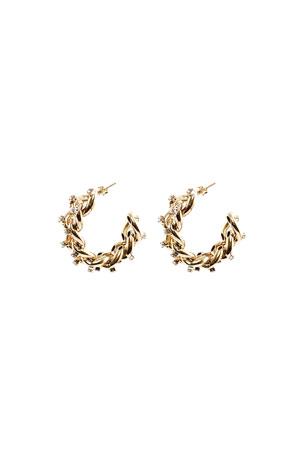 Rosantica Liberta Chain Hoop Earrings