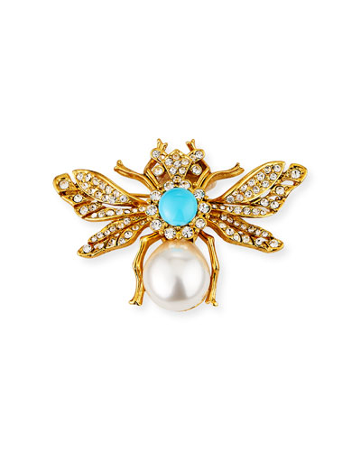Turquoise Fly Pin