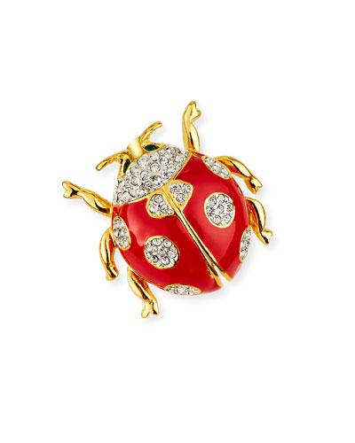 Crystal Ladybug Pin