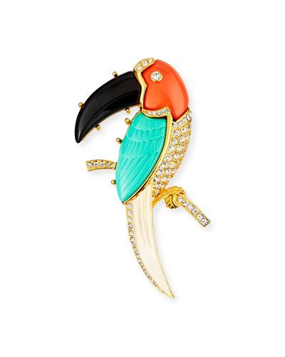 Toucan Crystal Pin