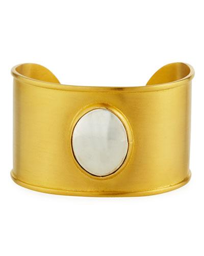 Lightweight Mixed Metal Cuff Bracelet