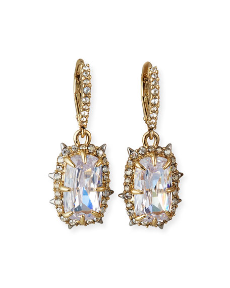 Image 1 of 2: Alexis Bittar Crystal Framed Cushion Earrings