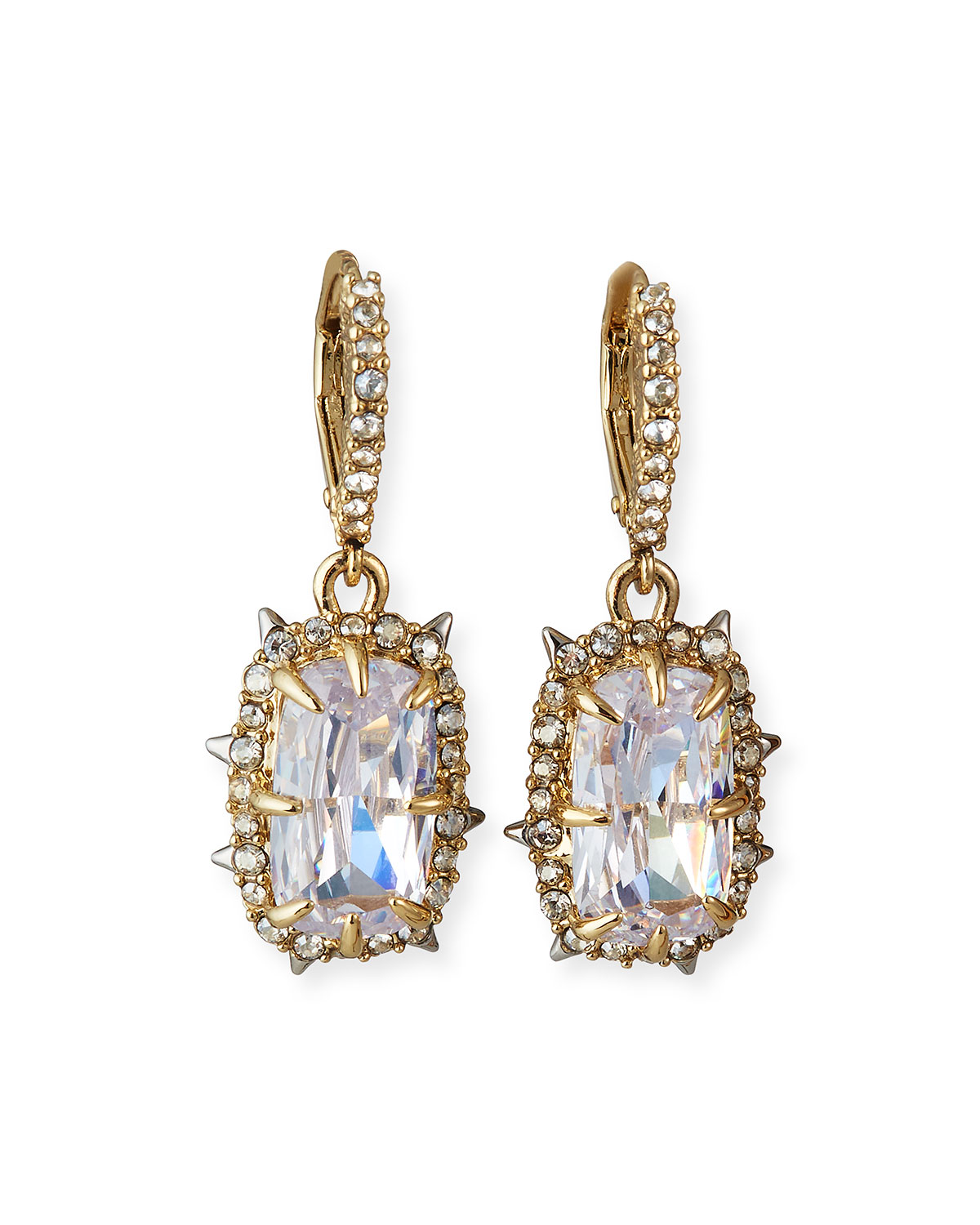 Alexis Bittar Crystal Framed Cushion Earrings