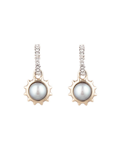 Georgian Pearl-Drop Stud Earrings