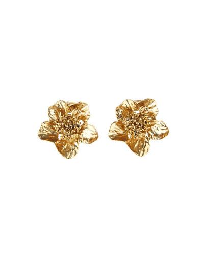 Classic Flower Clip-On Earrings