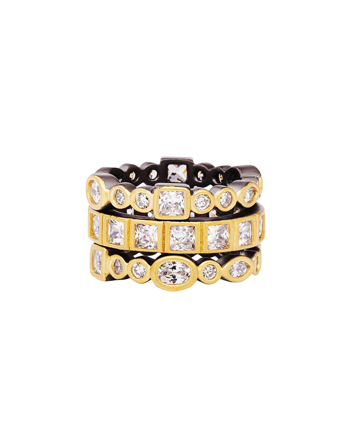 f206bc441e90e Mixed-Stone Radiance Stack Rings, Set of 3, Size 5-9