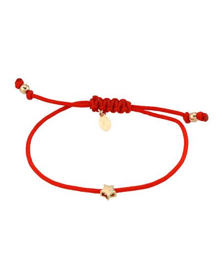 Zoe Lev Jewelry 14k Fortune 1-Diamond Star Adjustable Bracelet