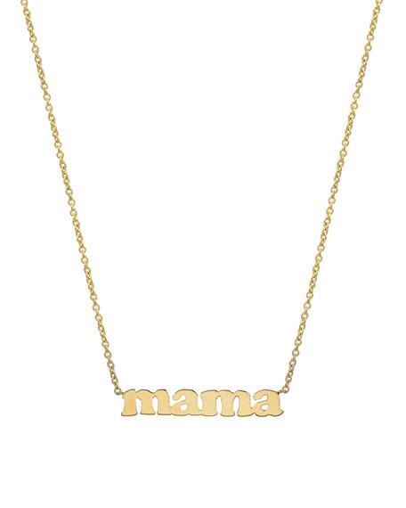 Zoe Lev Jewelry 14k MAMA Block Necklace