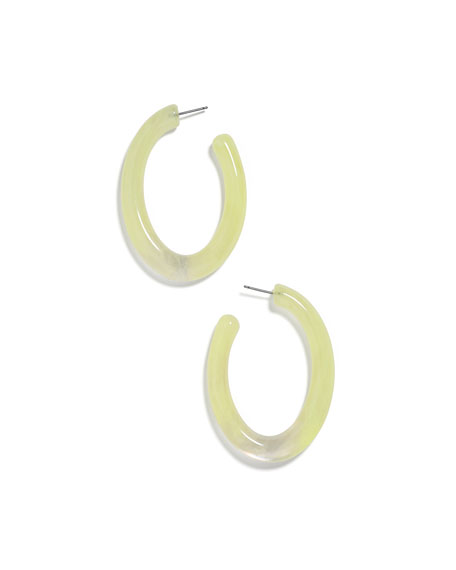 BaubleBar Selenne Acrylic Hoop Earrings