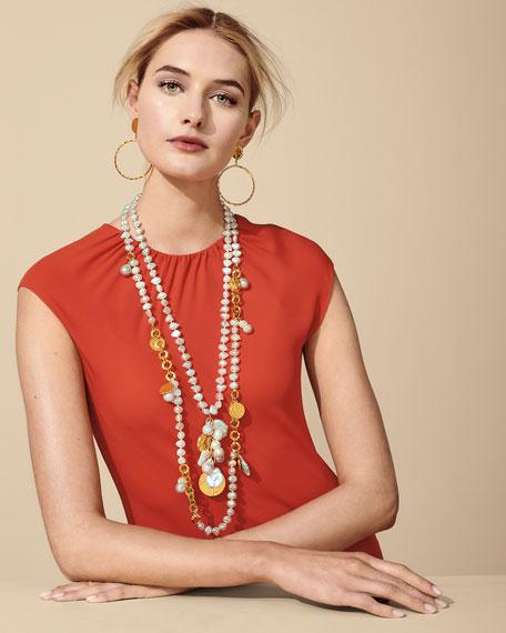 NEST Jewelry Coin-Post Hoop-Drop Earrings