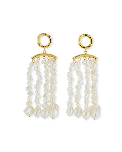 Pearl Tassel Earrings