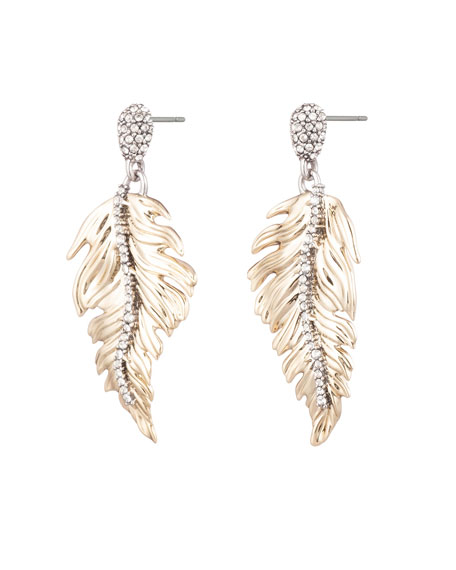 Alexis Bittar Feather Drop Post Earrings