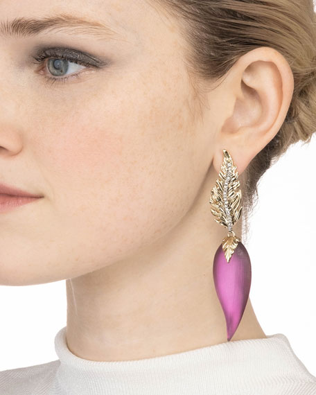 Alexis Bittar Feather Post Drop Earrings
