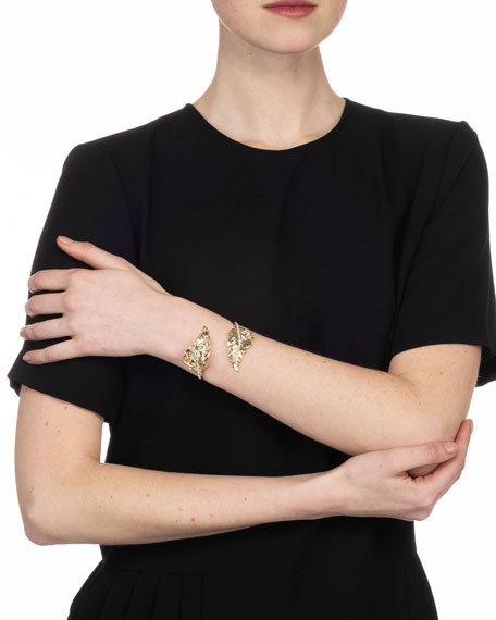 Alexis Bittar Double Feather Bypass Cuff Bracelet