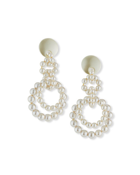 Lele Sadoughi Pearly Loop-de-Loop Earrings