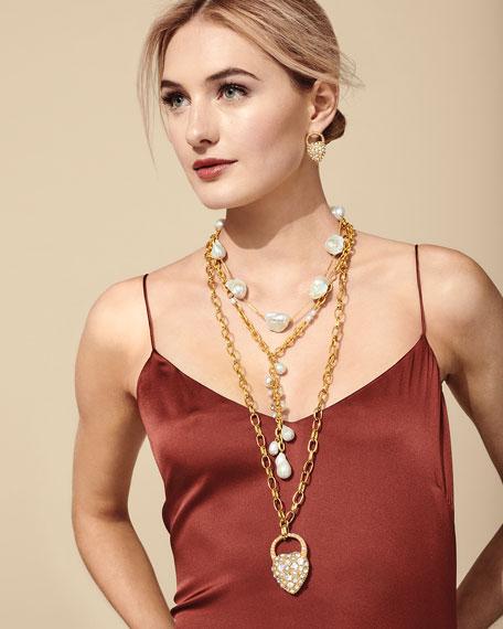 Lulu Frost Nina Crystal & Pearly Stud Earrings
