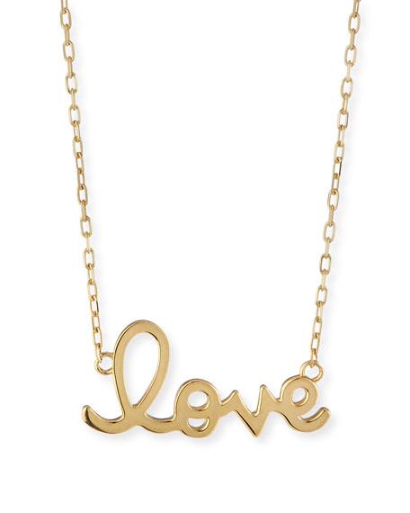 Sydney Evan 14K Yellow Gold Pure Love Script Necklace