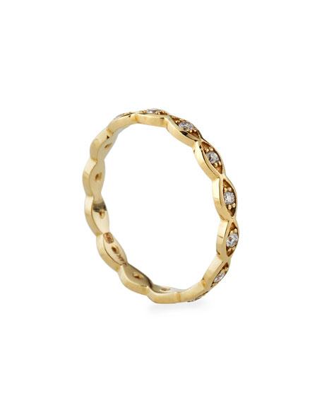 Sydney Evan 14k Diamond Evil Eye Ring, Size 6.5