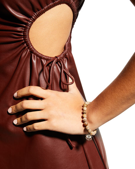 Sydney Evan 14k Diamond Evil Eye & Wood Bead Bracelet