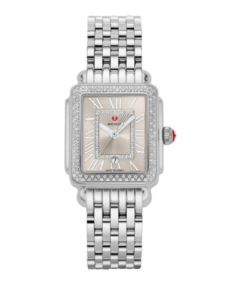 MICHELE Deco Madison Mid Diamond Watch, Silver