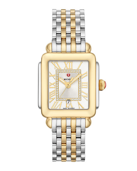 MICHELE Deco Madison Mid Two-Tone Diamond-Dial Watch