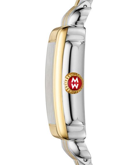 MICHELE Deco Mid Two-Tone Diamond Dial Watch