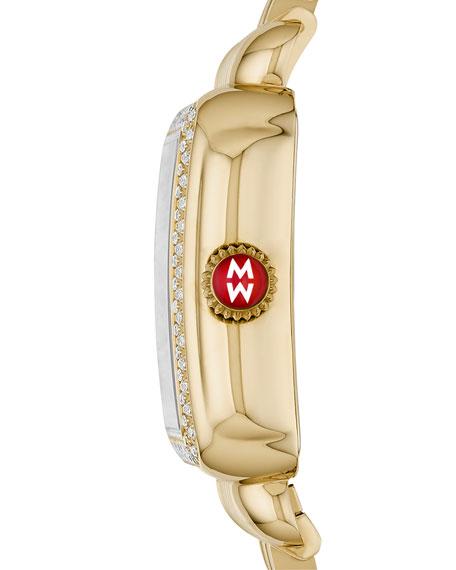 MICHELE Deco Madison Diamond Watch, Gold