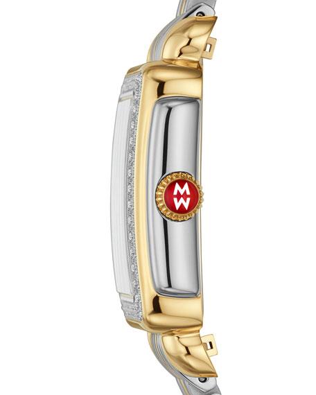 MICHELE Deco Madison Mid Two-Tone Diamond Watch