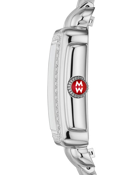 MICHELE Deco Madison Diamond Watch, Silver/White