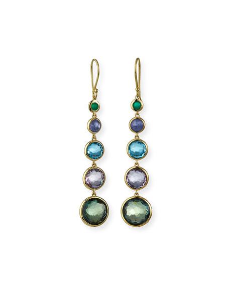Ippolita 18k Gold Rock Candy Lollitini Earrings in Hologem