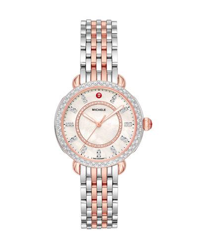 Sidney Classic Diamond Two-Tone Pink Gold Watch