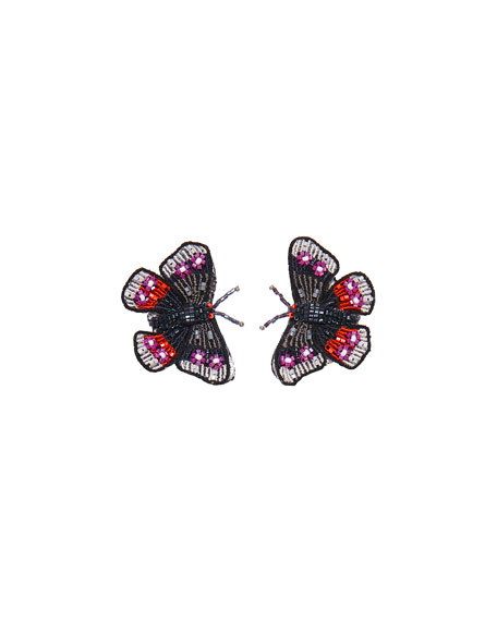 Mignonne Gavigan Beaded Butterfly Stud Earrings