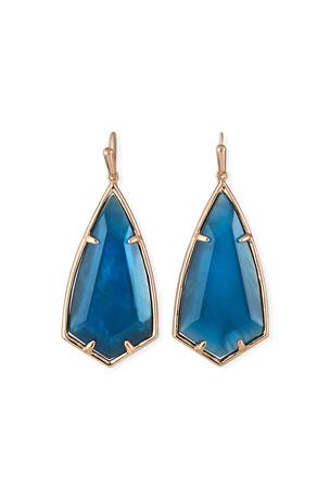 Fiji 43~Teal Blue Topaz Hoop Earrings with Metal Choice